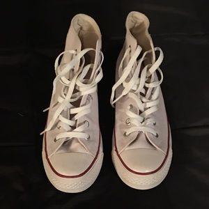High top converse (white) S 8.5 M, 10 W